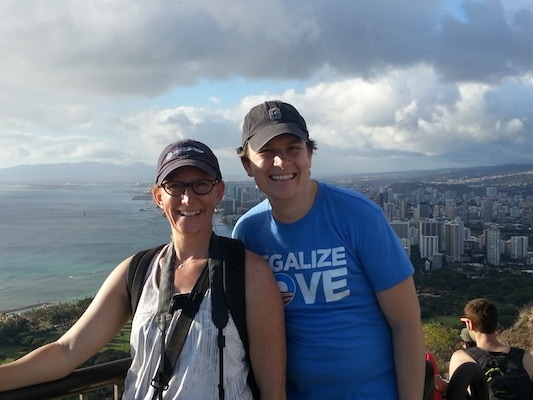 Ron and I in Oahu