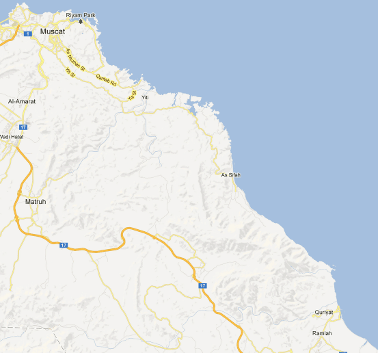 Oman trekking map
