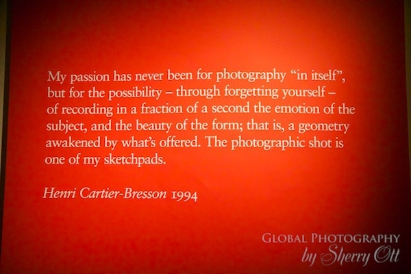 Quote Henri Cartier Bresson