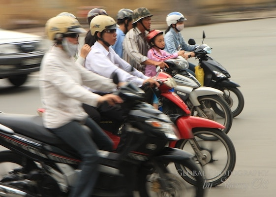 Vietnam motorbike traffic