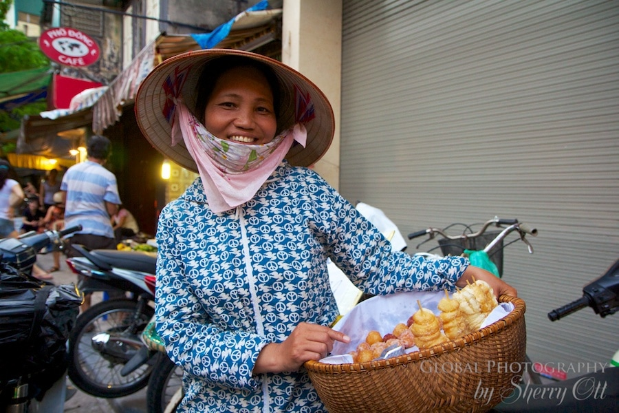 Street vendor hanoi vietnam