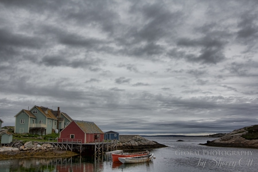 Peggy's Cove Fishing Village on the Lighthouse Route in Nova Scotia