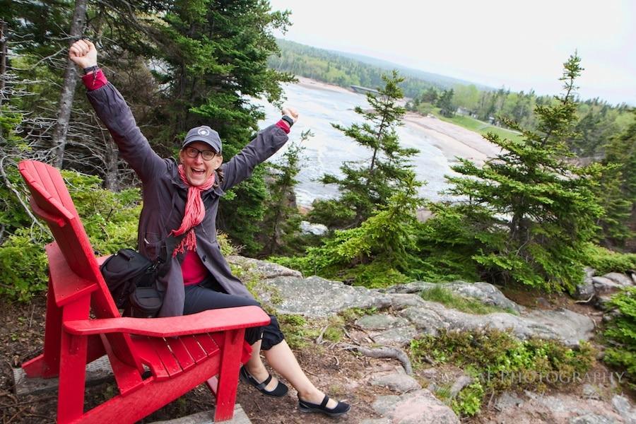 Red chair challenge Cape Breton Highlands