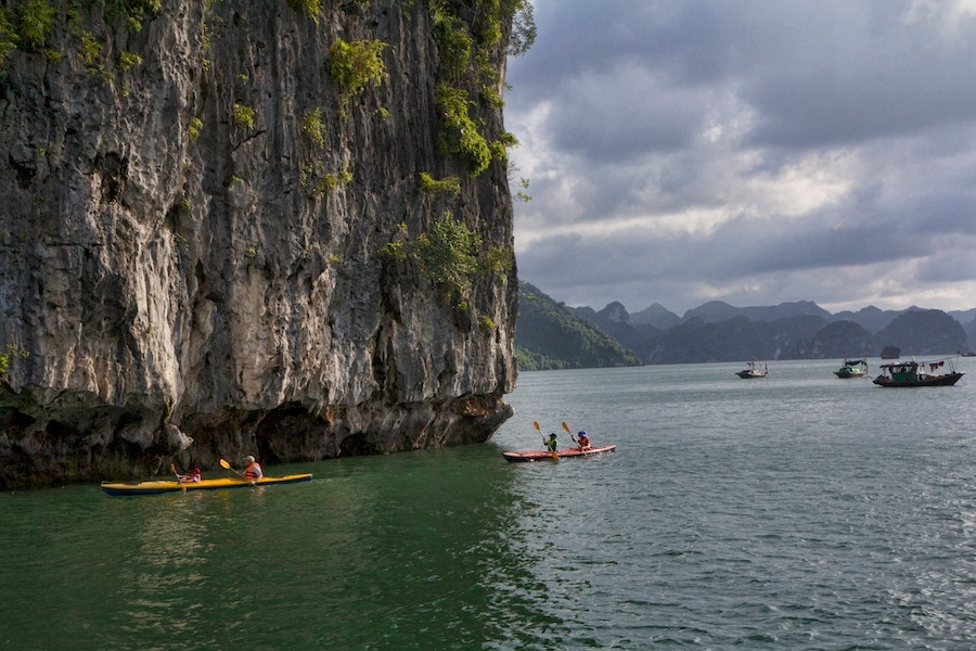 Kayaking Ha Long Bay Vietnam