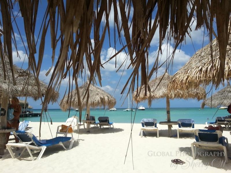 Aruba palm beach palapa