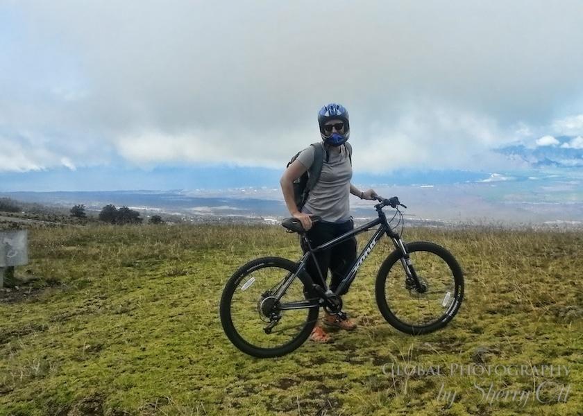 Biking down haleakala maui
