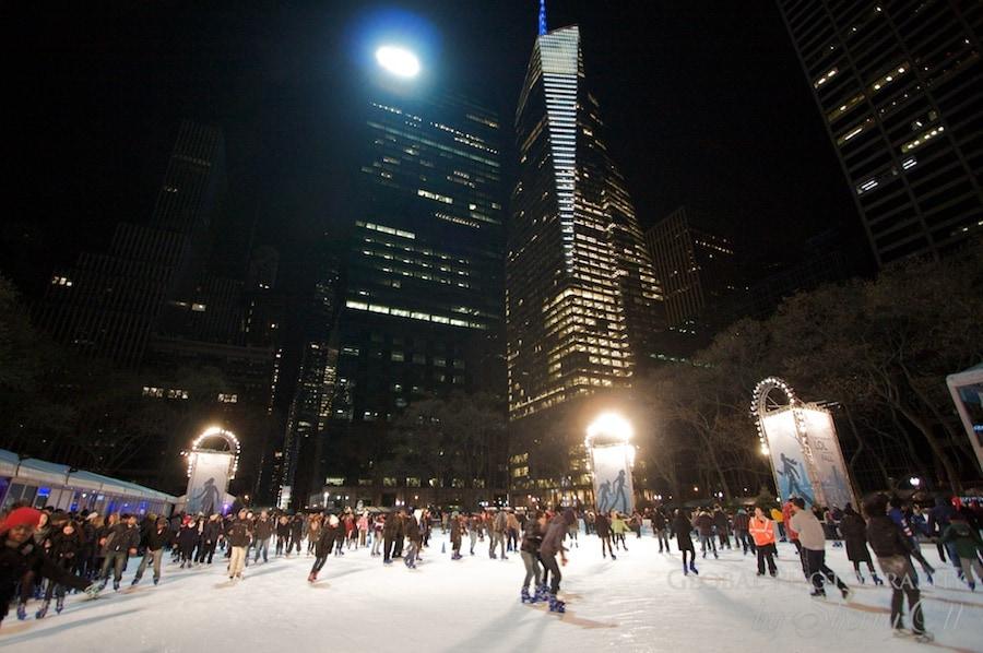 Bryant Park ice skating