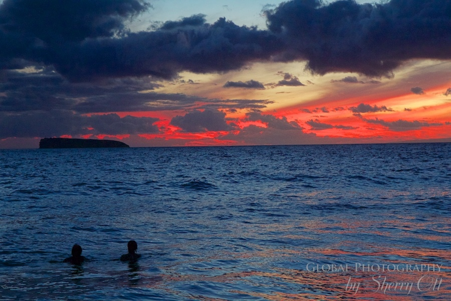 Maui Hawaii sunset little beach