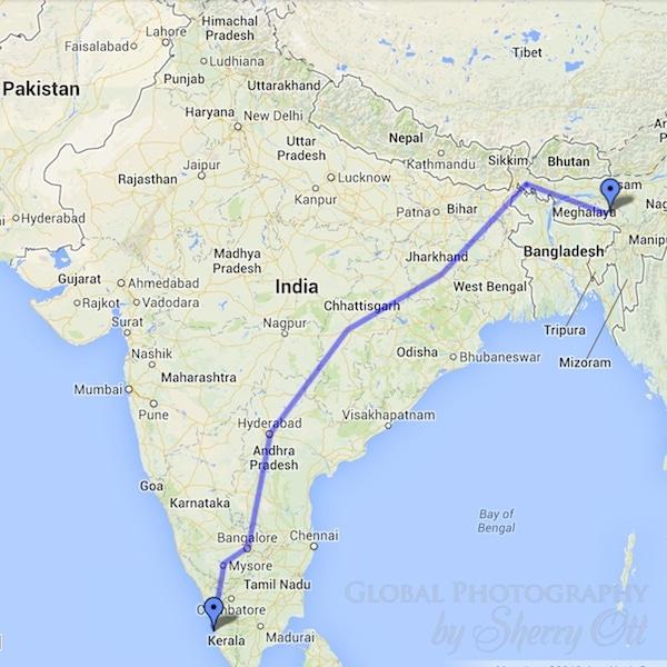 Rickshaw Run route