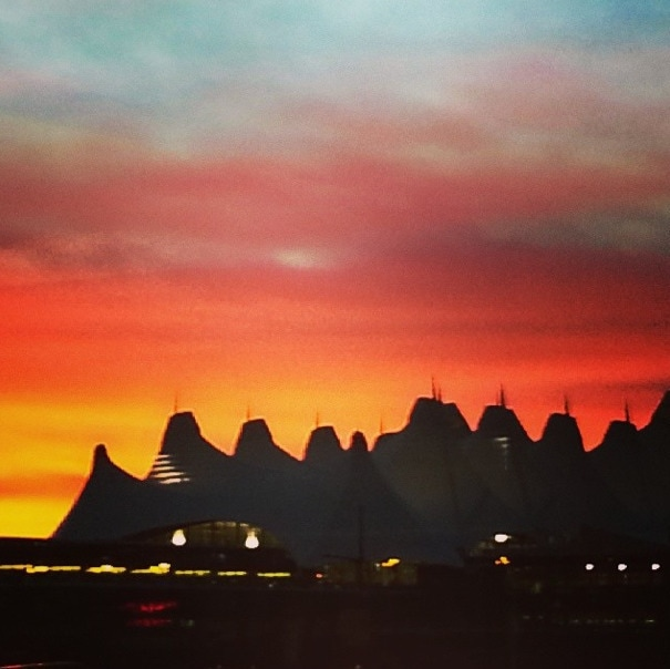 Denver airport sunrise