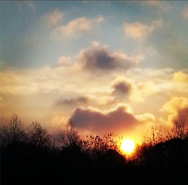 Sunrise minnesota cold