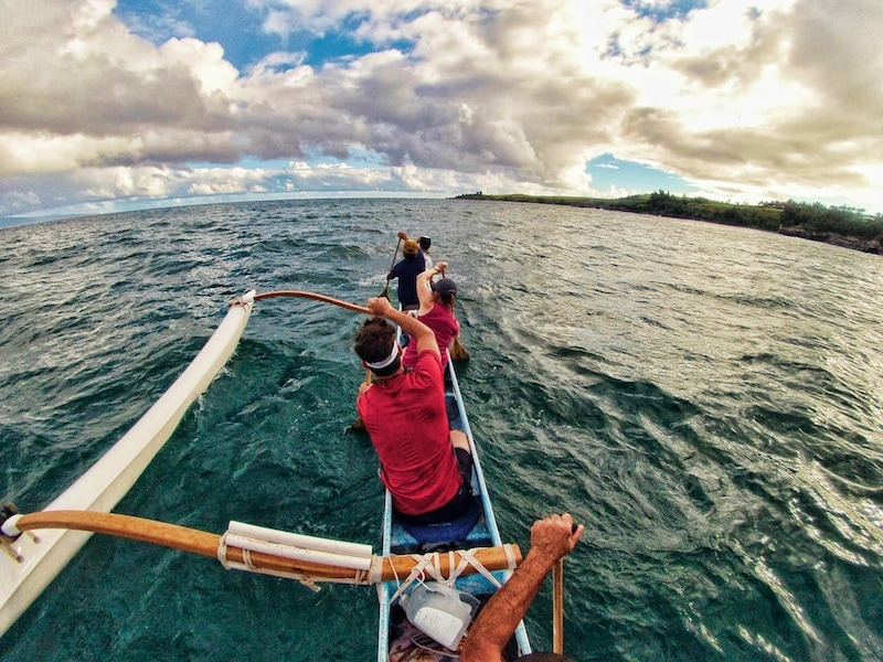 Hawaiian Outrigger canoe tour maui