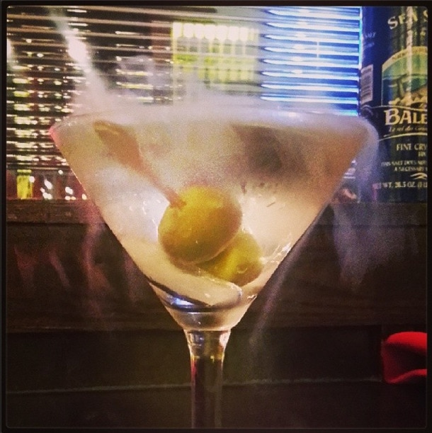 dry ice martini