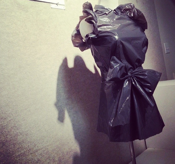 Little black dress garbage bag