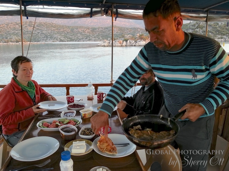 Food lycian Way boat