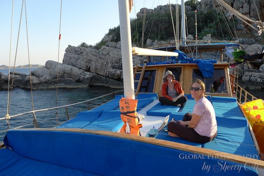 Lycian Way by boat