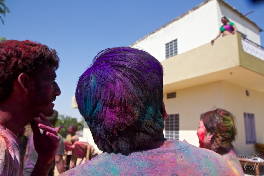 colored hair holi
