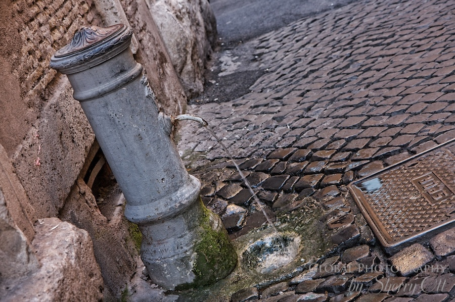 Water fountains Rome