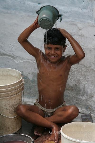 bucket shower india