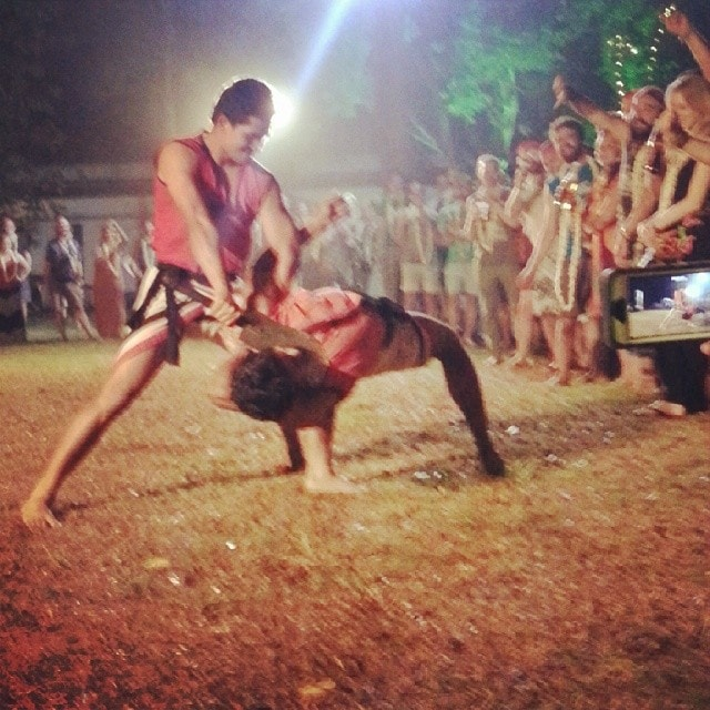 Ancient Indian Fighting at the Rickshaw run launch party