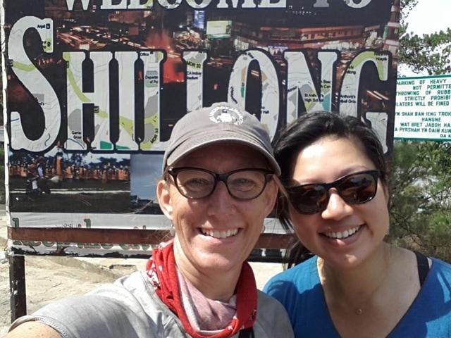 Welcome to Shillong near Rickshaw Run finish line