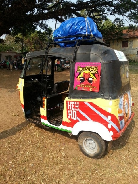packed Rickshaw ready to go