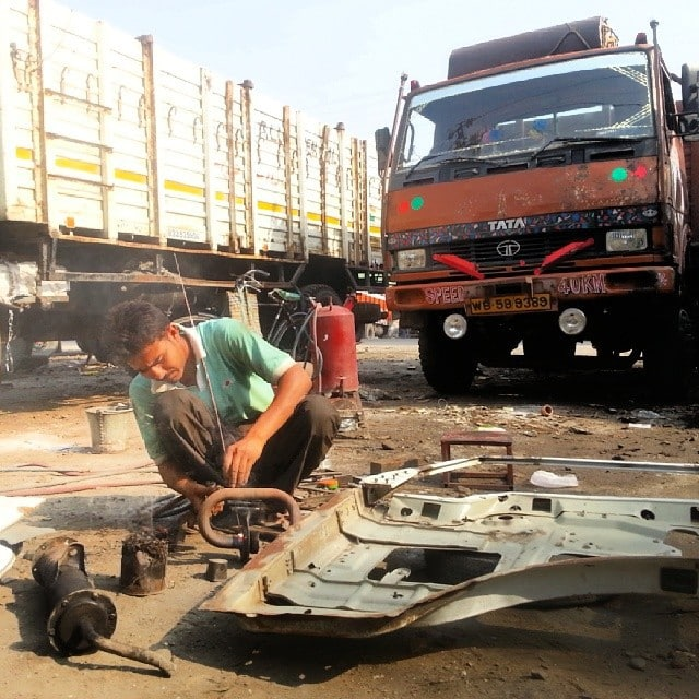 rickshaw run mechanic in India