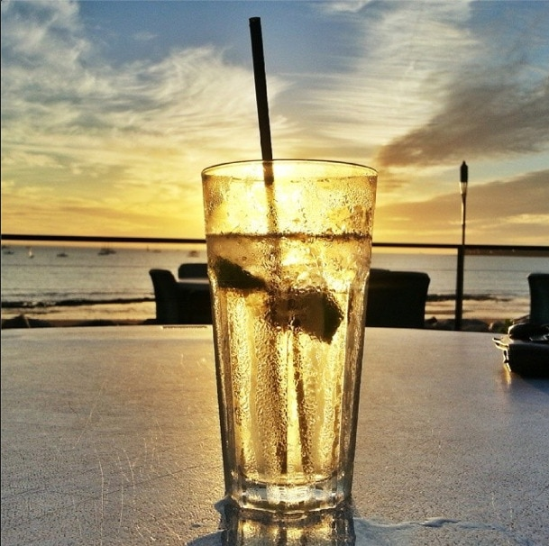 Gin and Tonic sunset