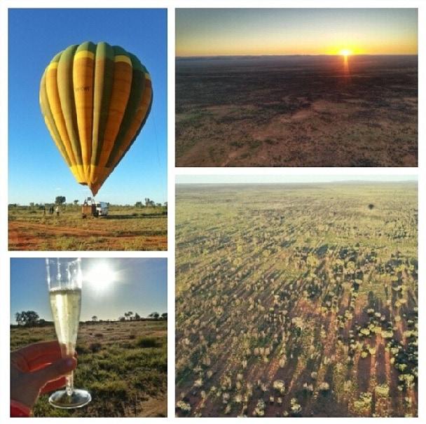 Hot air balloon outback australia