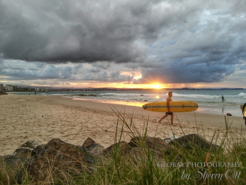 Surf sunset coolangatta