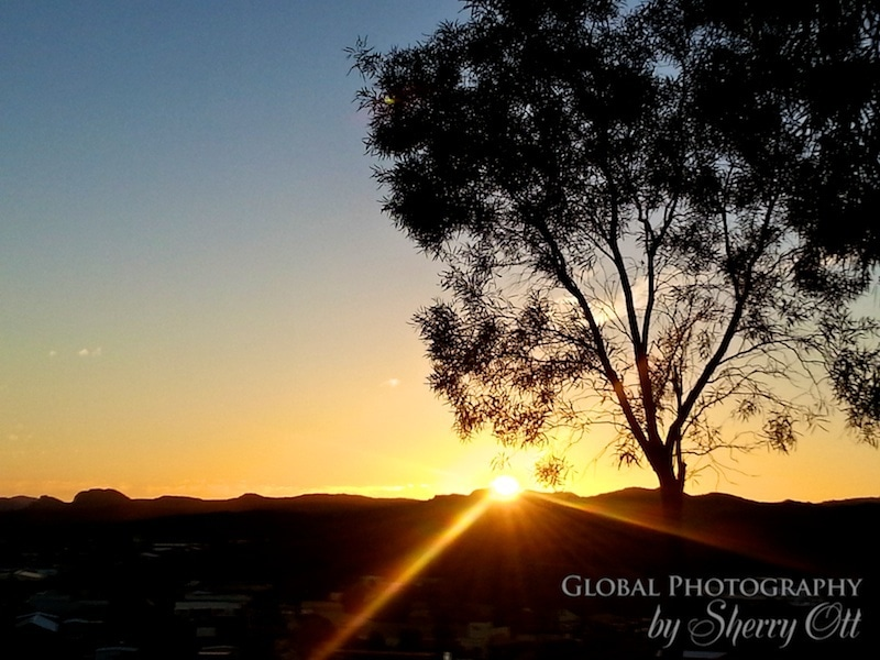 sunset alice springs