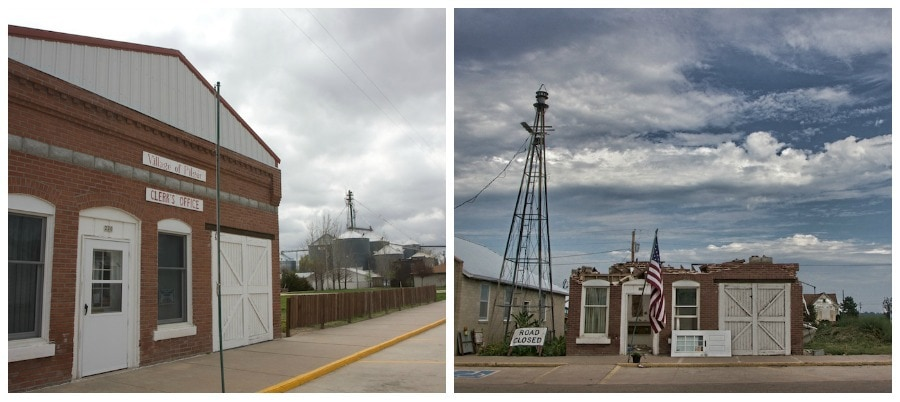 Pilger tornado before and after