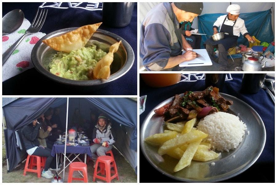 camp food peru