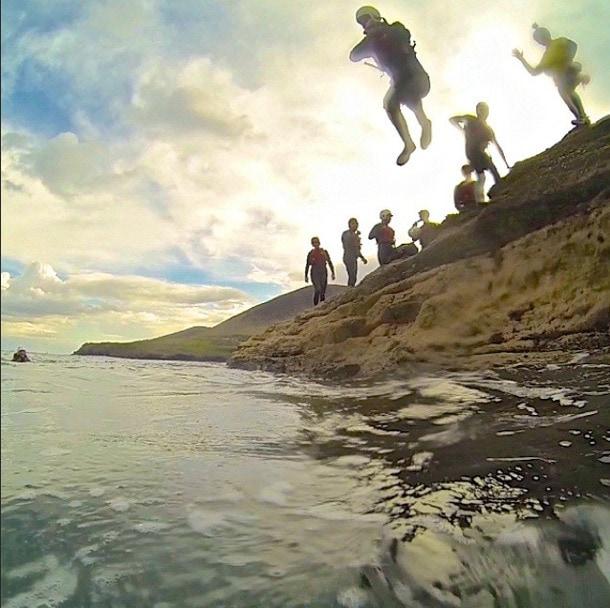 coasteering ireland jump