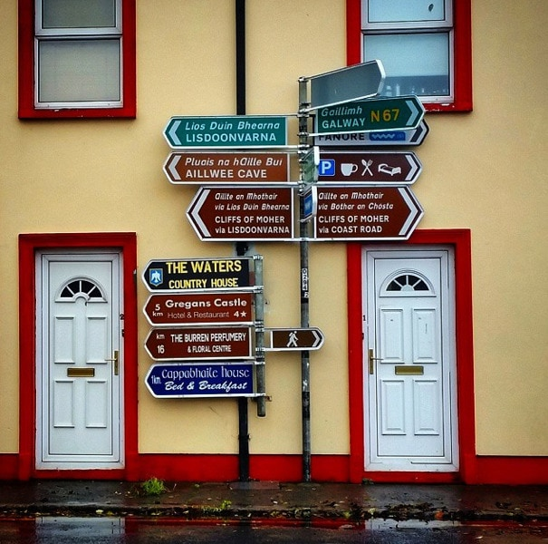 Ballyvaughn signpost