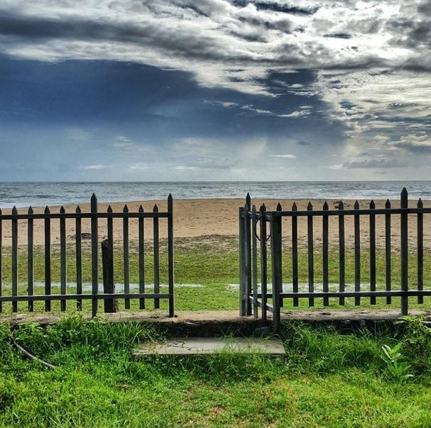 beach gate