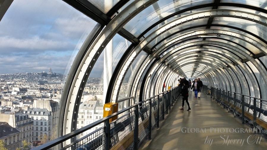Pompidou  Paris view