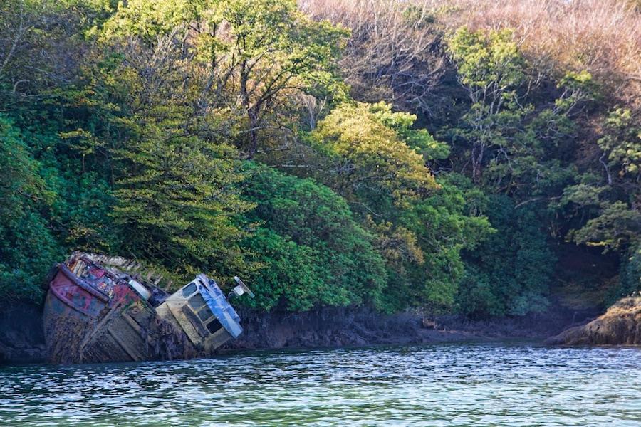ireland abandoned boat