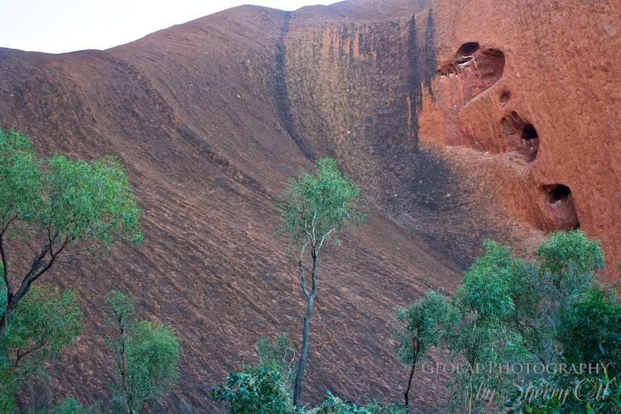 Eroded heart uluru australia