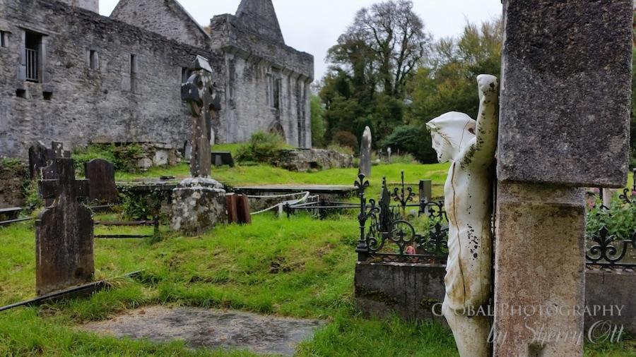 rainy day muckross abbey cemetery