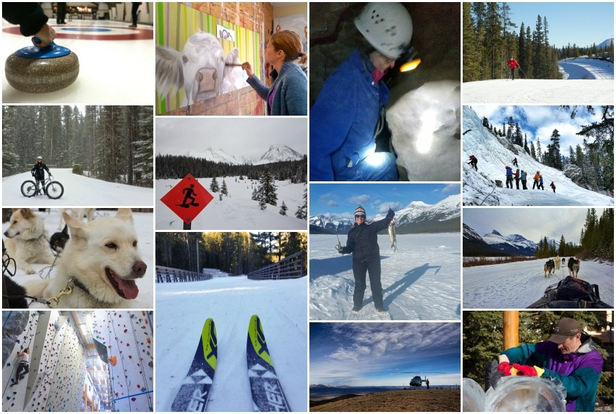 So many winter activities in Canmore!