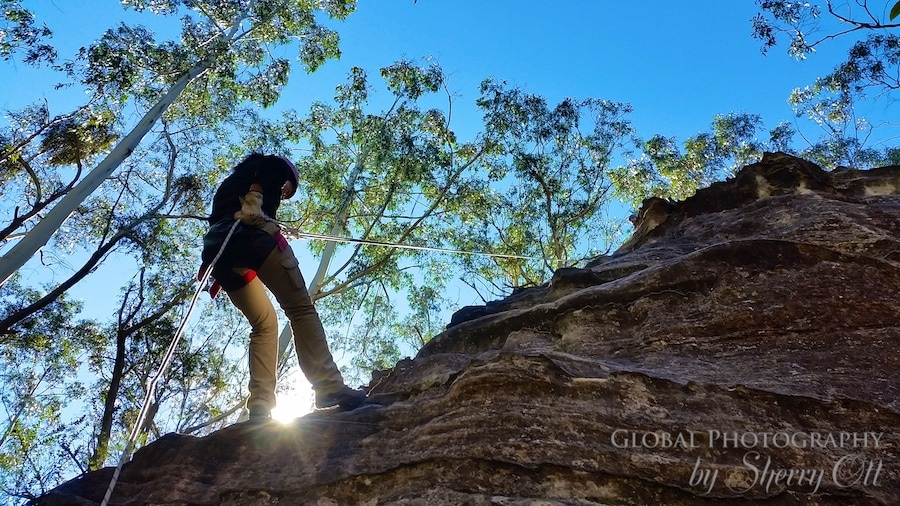 abseiling blue mountains