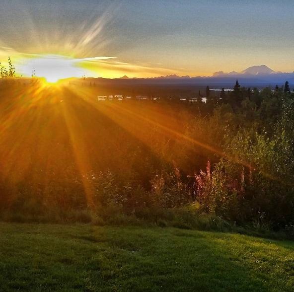 alaska denali sunset