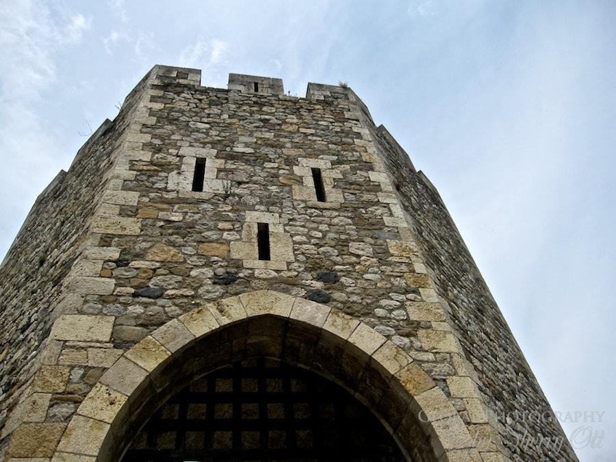 castle entrance in Costa Brava Spain