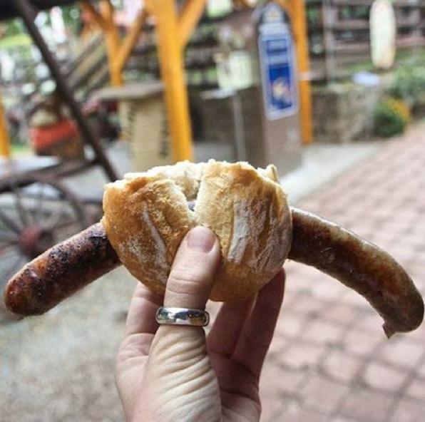 German Thuringia bratwurst