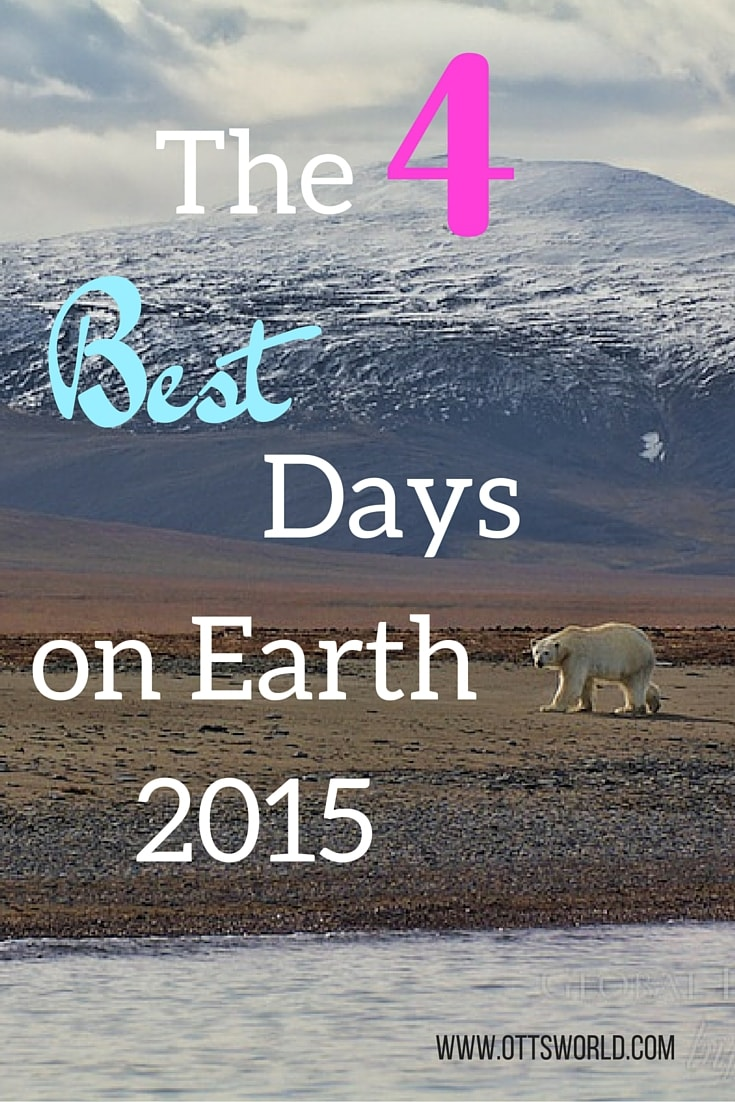 Have you ever had a day you never wanted to end, a day that made your soul tingle? Inspired by the book Best Day on Earth,  I've chosen my 4 best days in 2015.