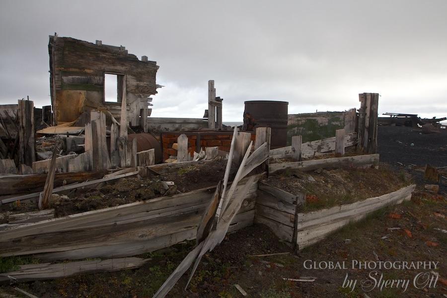 derelict buildings wrangel island