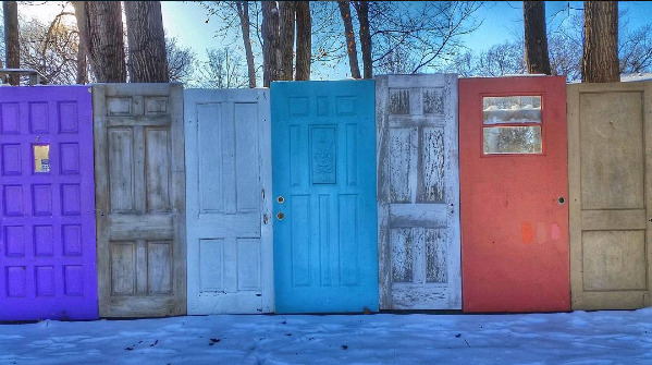 doors at fence