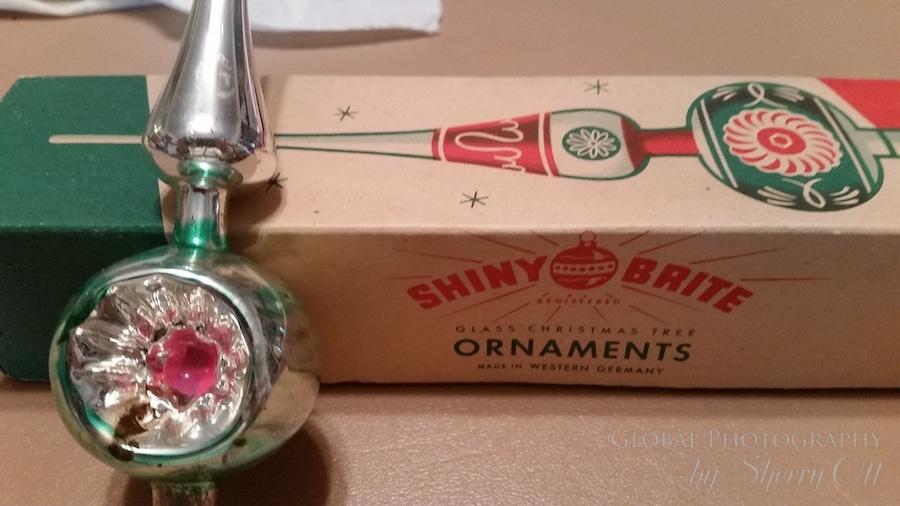 German glass christmas ornament