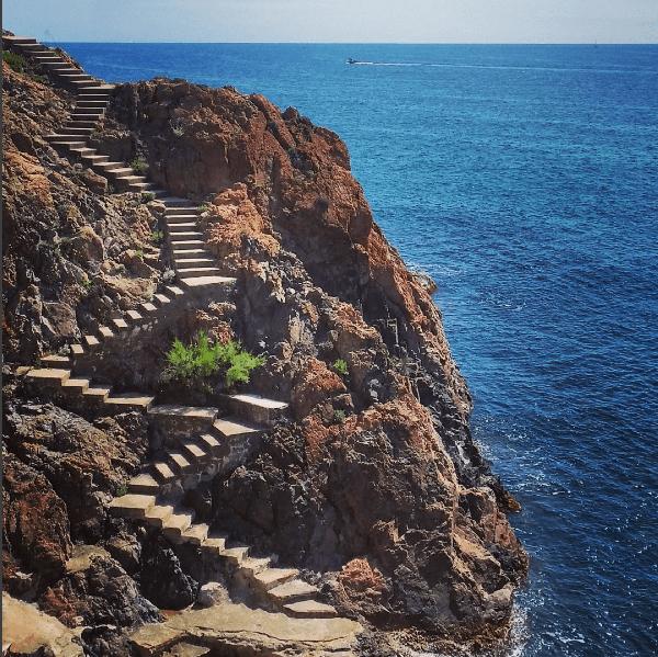 costa brava stairs